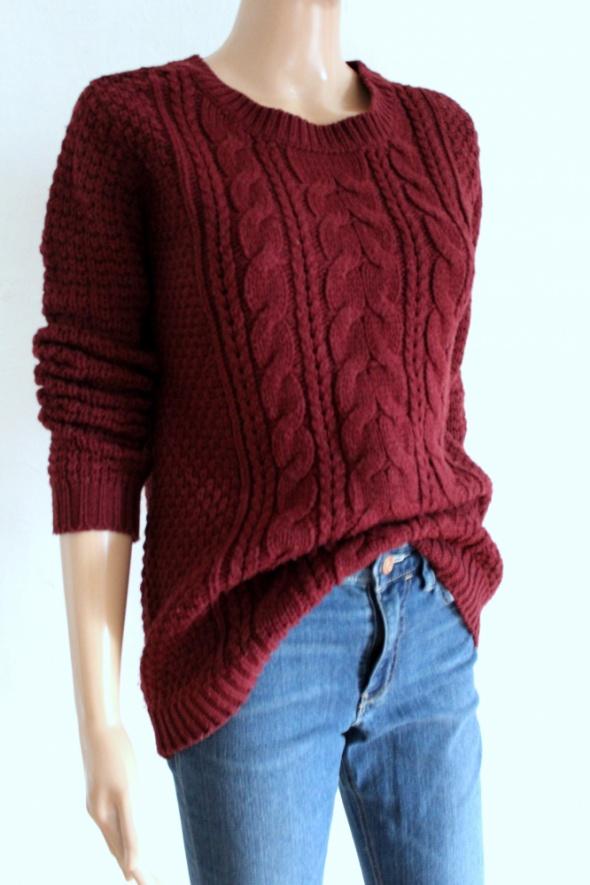 Bordo gruby sweter r XSS