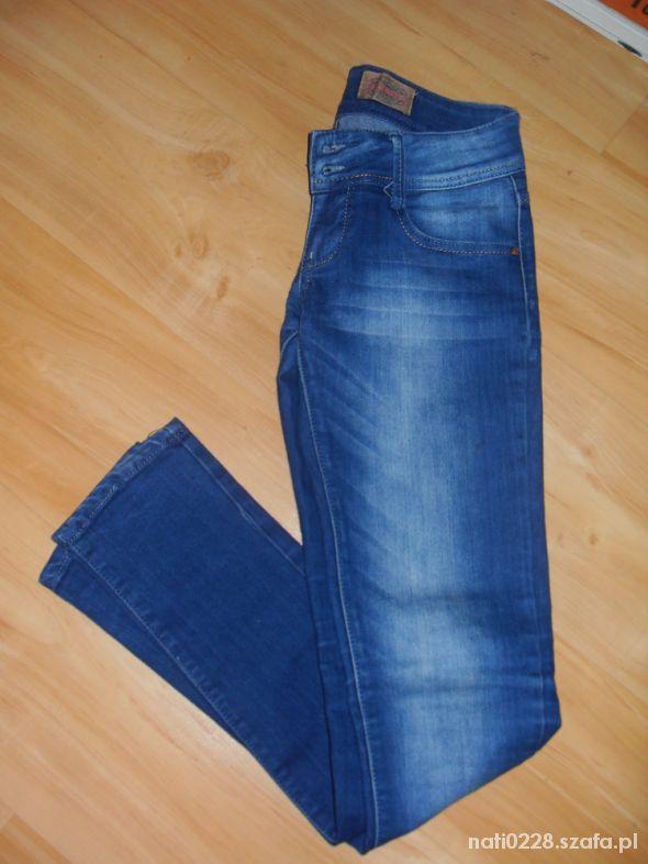 Jeansowe Granatowe rurki S