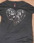 Bluzeczka RESERVED serce XS kamienie