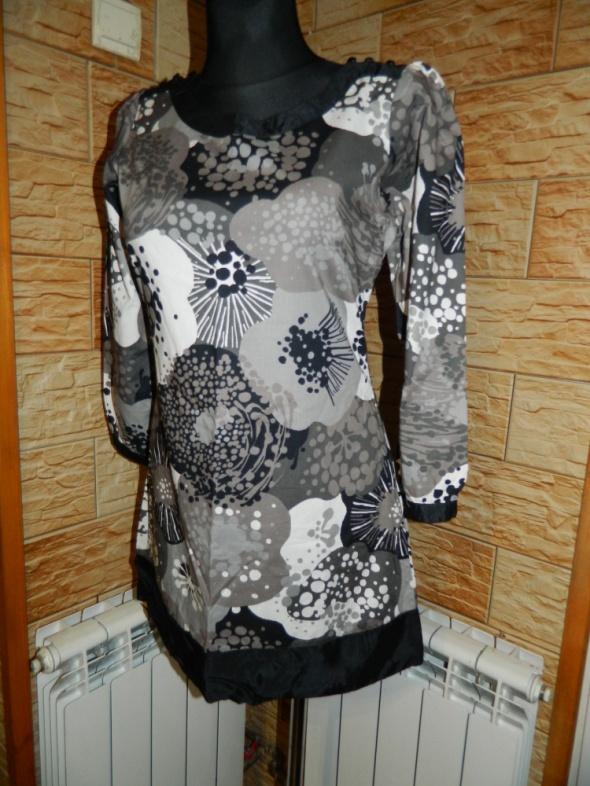 Bawełniano jedwabna sukienka tunika roz 38