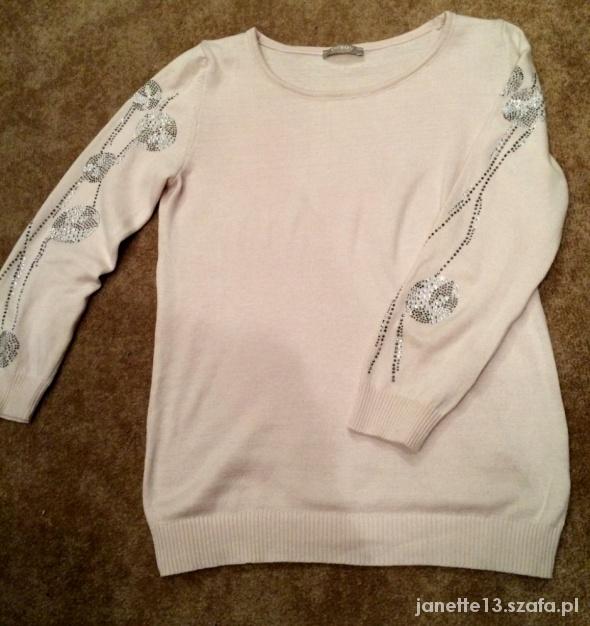 Sweterek blady róż cyrkonie ORSAY XS
