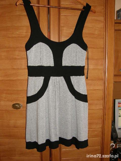 RIVER ISLAND cudna tunika sukienka 38