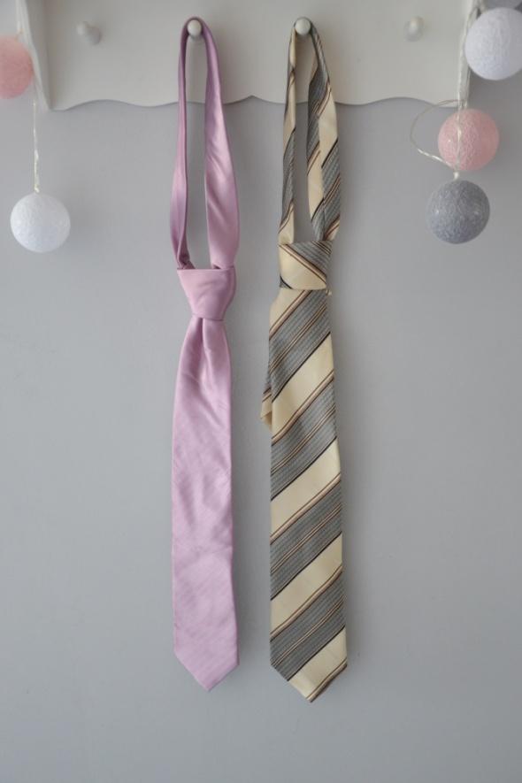 2 x krawat fiolet beż krawaty męskie Willsoor Vincent Pelle