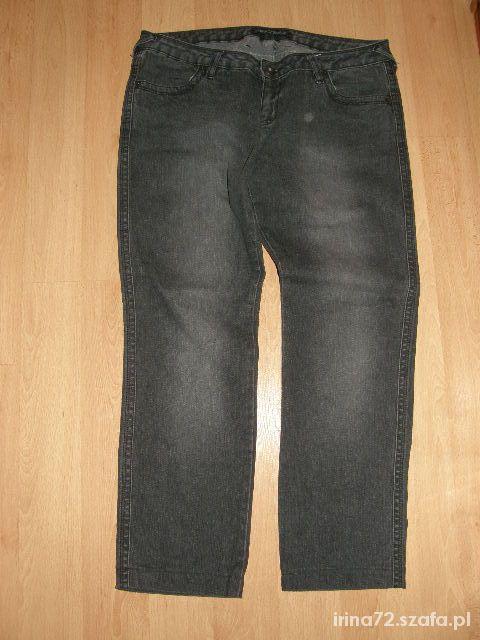 New Look szare jeansy dla lekko puszystej 44