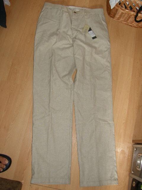 Nowe męske spodnie z lnem S M