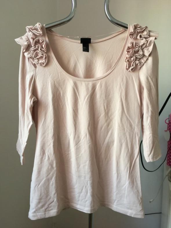 Bladoróżowa bluzka H&M rozm L