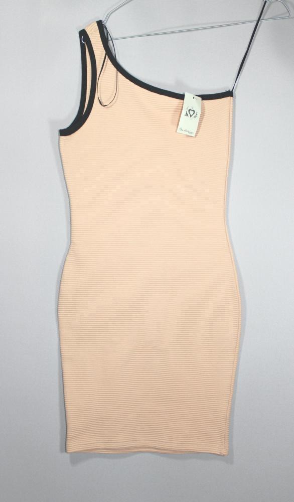 Bandażowa bodycon dress pudrowa XS S...