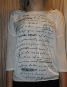 Bluzka z napisami...