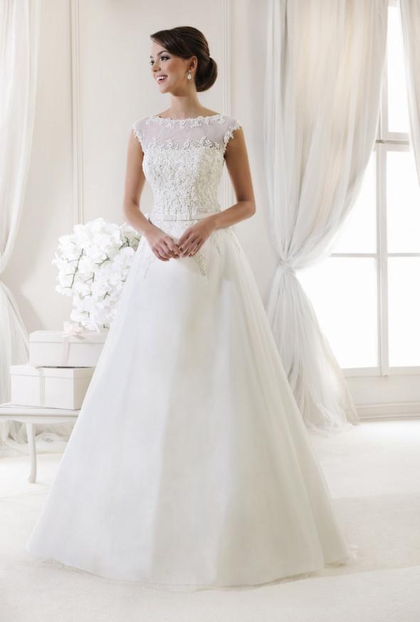 Biała Suknia ślubna Agnes 11988 Tren Welon Doda W Suknie ślubne