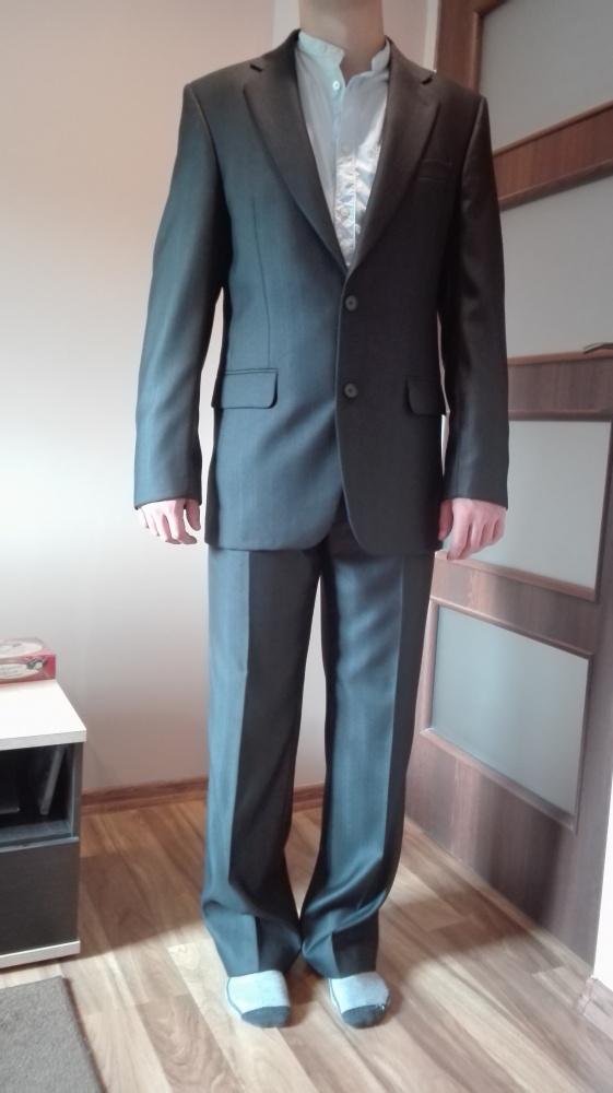 Czarny garnitur komplet