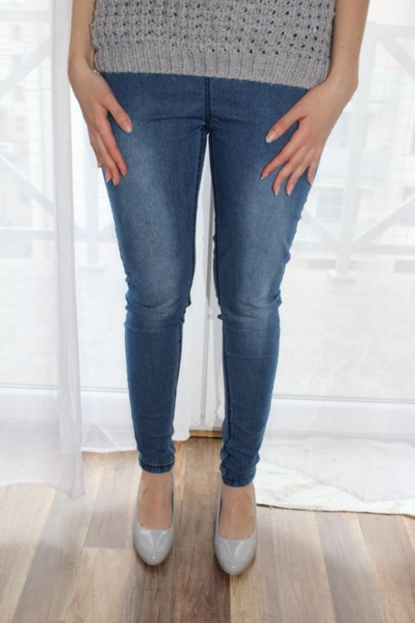 Spodnie jegginsy blue jeans M wyszczuplające uda