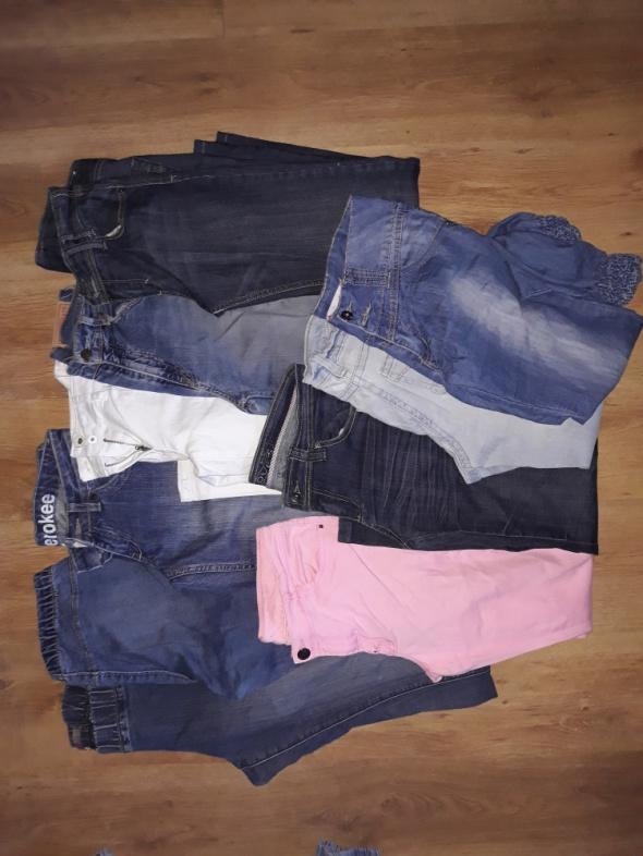 zestaw spodni jeans roz M
