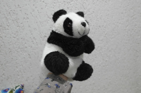 Panda miś maskotka kukiełka