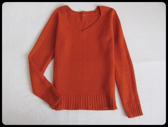 Terranova rudy sweter w rozmiarze L