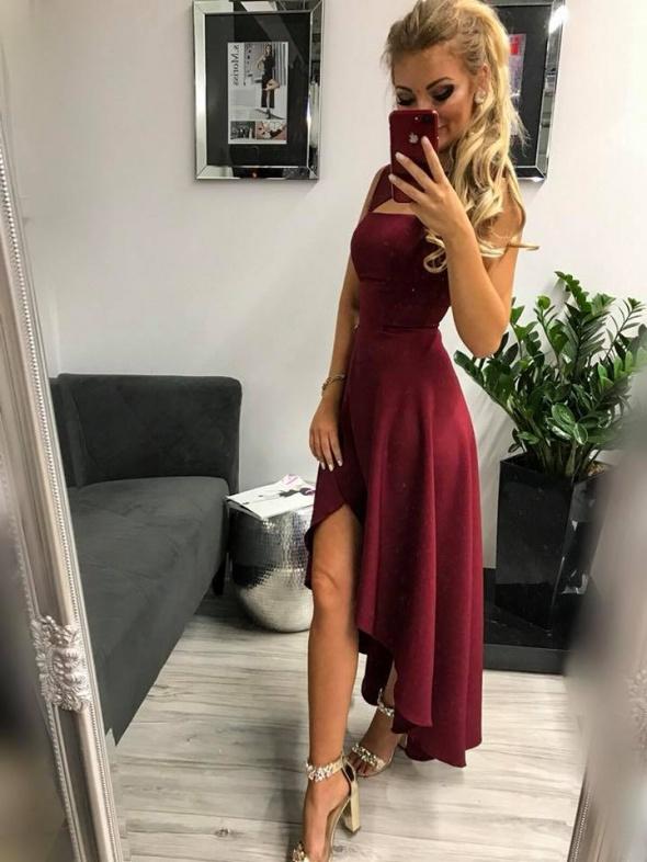 Przepiękna asymetryczna sukienka