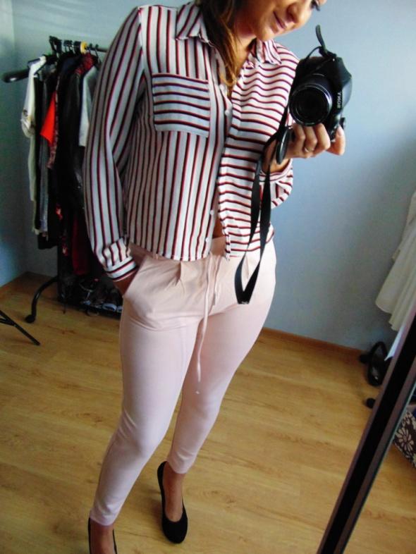 NOWE eleganckie spodnie Only pudrowy róż M 38