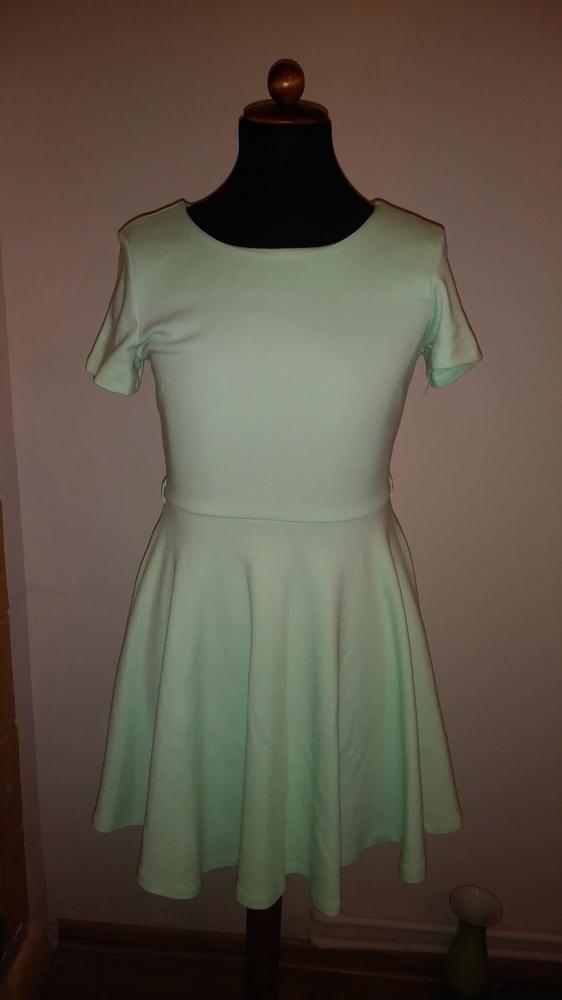 H&m pistacjowa sukienka