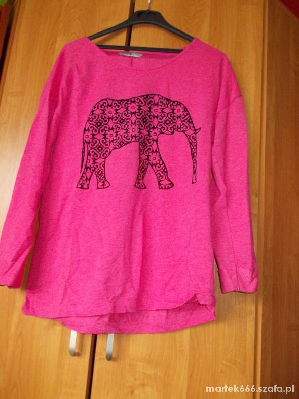 Różowa bluza TU oversize ze słoniem...