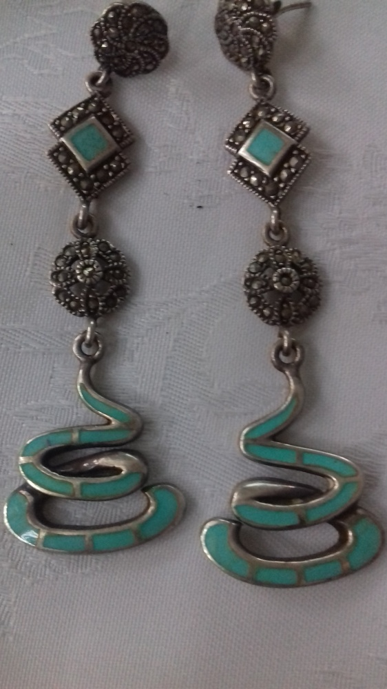 Unikatowe srebro markazyty turkus