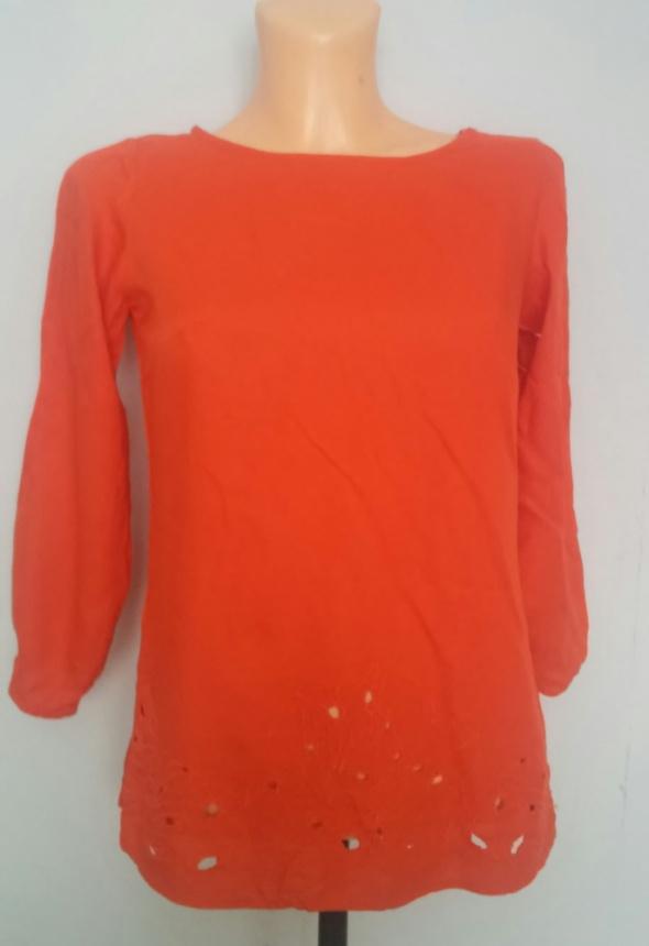 Bluzki Bluzka pomarańczowa haft S