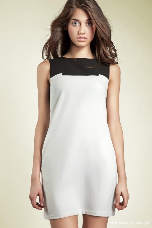 sukienka nowa nife black&white 42 XL...