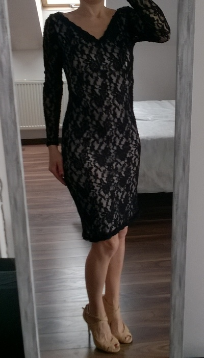 e03f2ad7b1 George koronkowa sukienka czarna M L w Suknie i sukienki - Szafa.pl