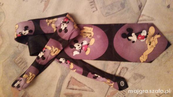 krawat z Miki i Pluto...