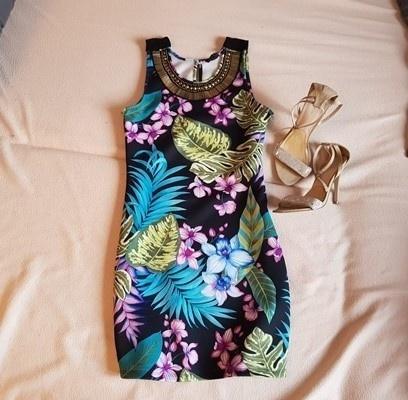 Sukienka Zara kwiaty xs s...
