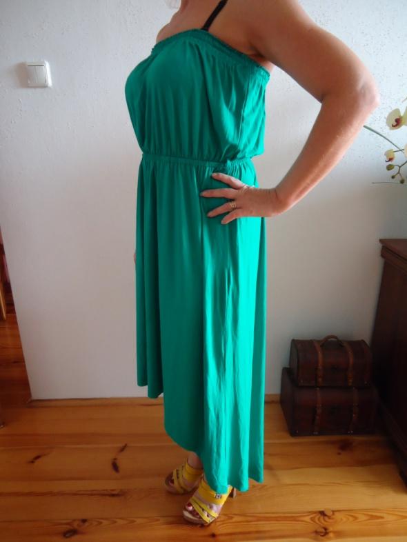 sukienka MORSKA bez ramiączek ORSAY L XL długa...