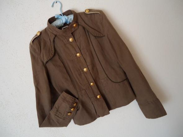 militarna marynarka żakiet khaki złote guziki 38...