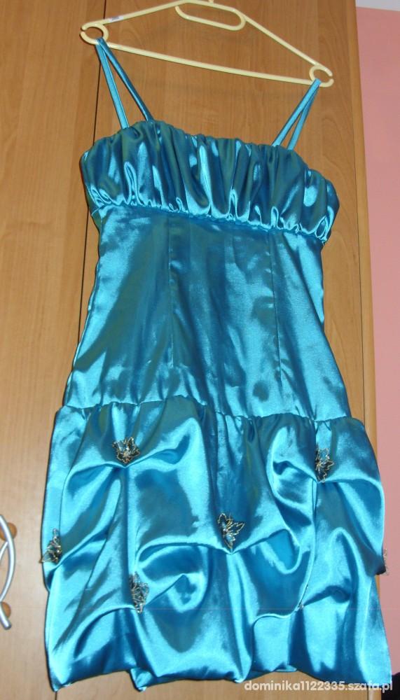 niebieska sukienka R 36