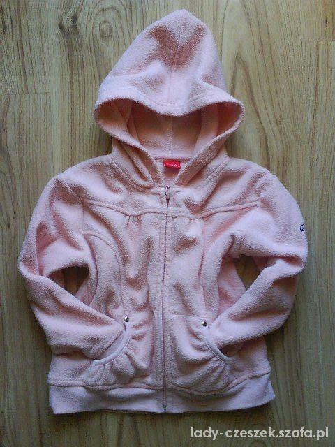 różowa polarowa bluza dziewczęca 116