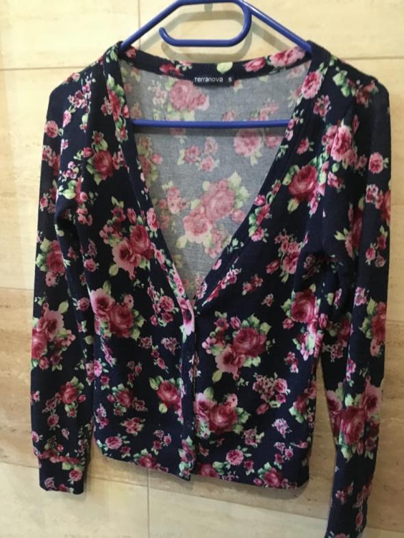 Sweter w kwiaty terranova 36 S...