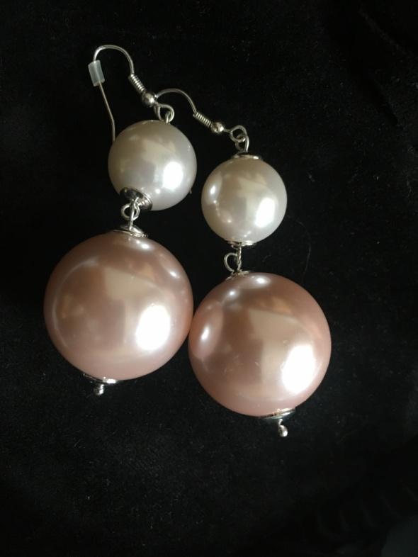 śliczne kolczyki orsay perły...