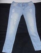 Przecierane rurki jasne jeansy