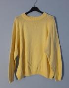 Żółty sweter oversize onesize jesień autumn...