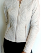 biała pikowana kurtka ramoneska reserved XS 34