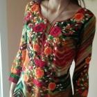 Tunika wzory ludowe vintage kolorowa ciekawy wzor 34 36 38 S M