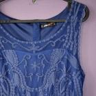 niebieska chabrowa koronkowa sukienka 40 42 L XL