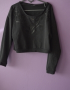 czarny sweter 38 M oversize