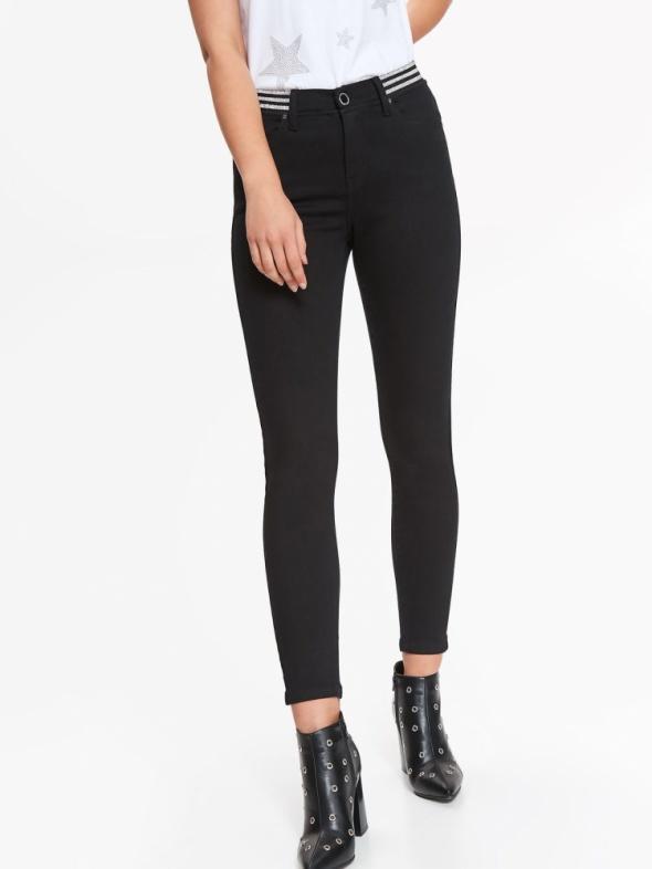 Nowe spodnie damskie czarne 34 Top Secret ozdobny ściągacz...