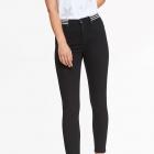 Nowe spodnie damskie czarne 34 Top Secret ozdobny ściągacz