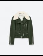 Zielona ramoneska z kożuszkiem Zara S...