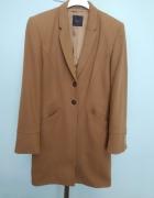 Klasyczny wełniany płaszcz Oui brązowy 36 S