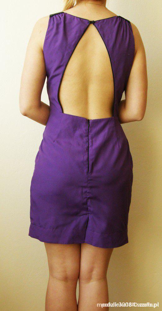 fioletowa sukienka 38