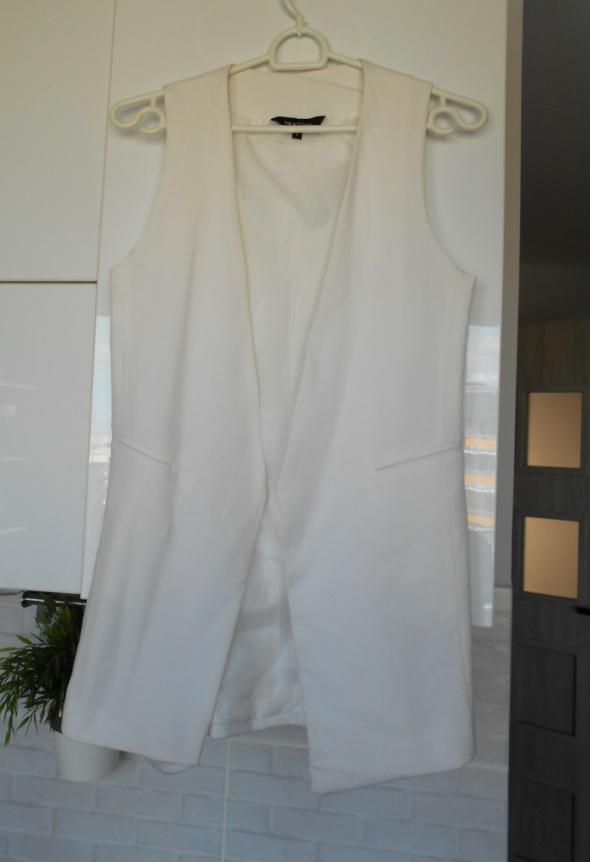 Kamizelki New Look biała elegancka kamizelka blazer