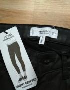 Nowe spodnie skórzane 32 XS Mango z suwakami