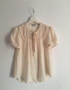 Wiktoriańska beżowa bluzka S