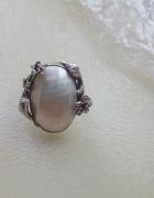 Stary okazały srebro masa perłowa