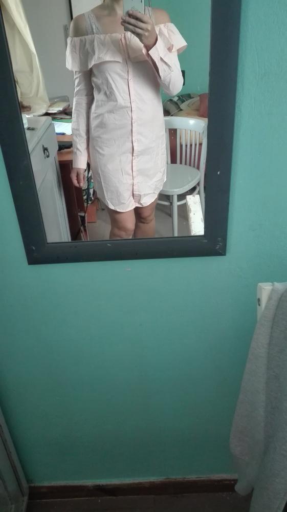 Koszulowa sukienka tunika hiszpanka A